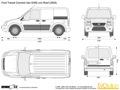 размеры грузового отсека форд торнео коннект