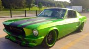 форд мустанг зеленый