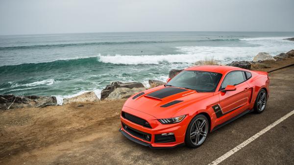 оранжевый форд мустанг