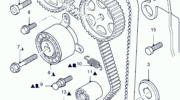 промежуточный ролик грм ford mondeo 2