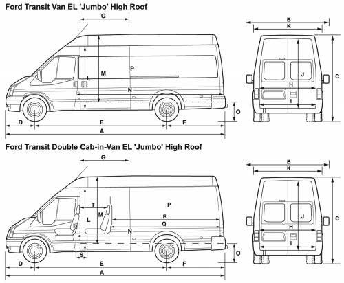 Грузопассажирский микроавтобус Ford Transit