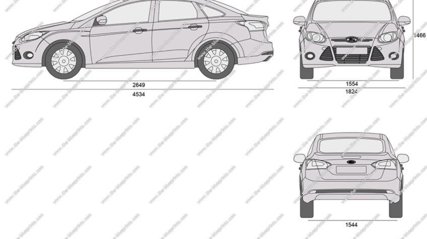размеры салона форд фокус 3
