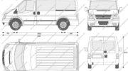 ford transit 300 van размер кузова