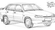 как нарисовать машину форд мустанг
